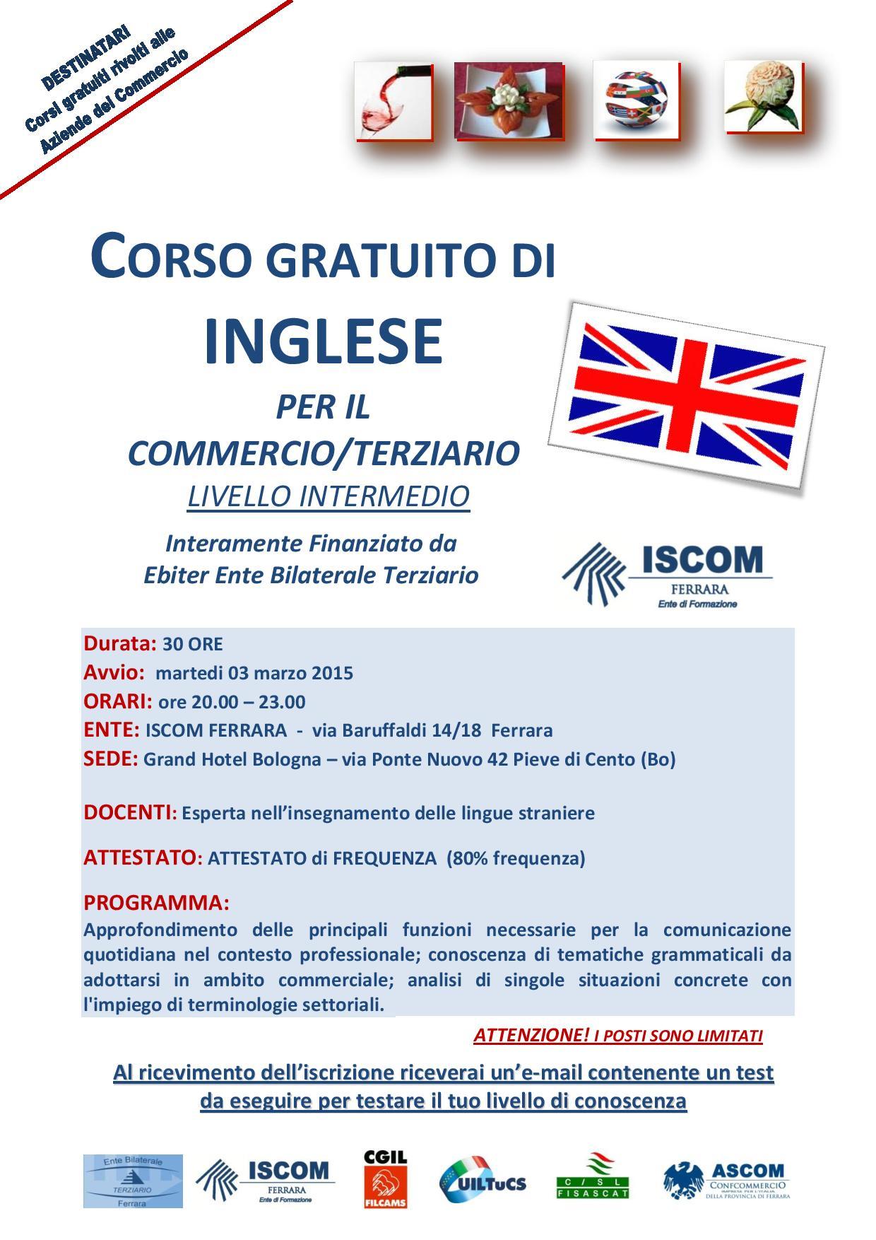 Corso gratuito d inglese per il commerecio terzi page 001 for Corso per arredatore d interni
